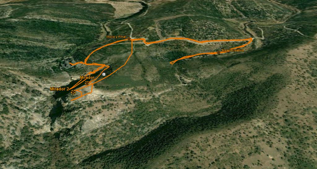 Vista aérea de la ruta