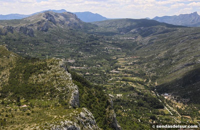 Vall de Gallinera desde el Almiserà